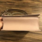 Dior Classic Rose Powder Pink Calf Leather Medium Diorama Bag GHW Lust4Labels 15