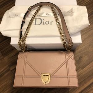 Dior Classic Rose Powder Pink Calf Leather Medium Diorama Bag GHW Lust4Labels 3