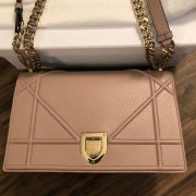 Dior Classic Rose Powder Pink Calf Leather Medium Diorama Bag GHW Lust4Labels 4