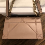 Dior Classic Rose Powder Pink Calf Leather Medium Diorama Bag GHW Lust4Labels 6