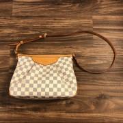 Louis Vuitton Damier Azur Canvas Leather Siracusa PM Shoulder Bag Lust4Labels 1