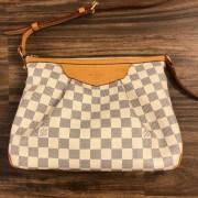 Louis Vuitton Damier Azur Canvas Leather Siracusa PM Shoulder Bag Lust4Labels 2