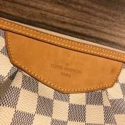Louis Vuitton Damier Azur Canvas Leather Siracusa PM Shoulder Bag Lust4Labels 3