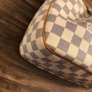 Louis Vuitton Damier Azur Canvas Leather Siracusa PM Shoulder Bag Lust4Labels 4