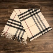 Burberry Classic Check Cashmere Beige Scarf Lust4Labels 1