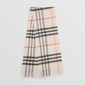 Burberry Classic Check Cashmere Beige Scarf Lust4Labels
