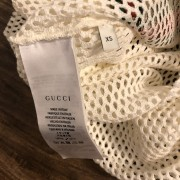 Gucci Classic GG Vintage Logo Mesh White Tank Top XS Lust4Labels 4