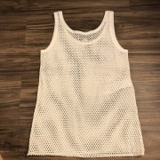 Gucci Classic GG Vintage Logo Mesh White Tank Top XS Lust4Labels 5