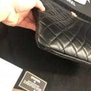 Chanel Classic Black Lamb Leather Le Boy Large O Case Clutch Lust4Labels 3