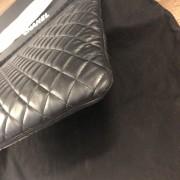 Chanel Classic Black Lamb Leather Le Boy Large O Case Clutch Lust4Labels 7