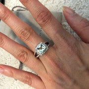 David Yurman Silver Petite Albion Ring Prasiolite and Pave Diamonds SZ 5 Lust4Labels 2