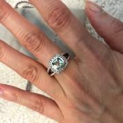 David Yurman Silver Petite Albion Ring Prasiolite and Pave Diamonds SZ 5 Lust4Labels 3