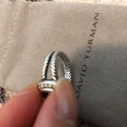 David Yurman Silver Petite Albion Ring Prasiolite and Pave Diamonds SZ 5 Lust4Labels 5
