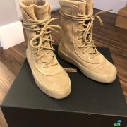 Yeezy Season 2 Taupe Suede Beige Crepe Boots SZ 5 Womens Lust4Labels 1