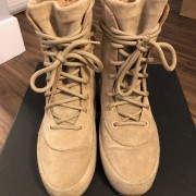 Yeezy Season 2 Taupe Suede Beige Crepe Boots SZ 5 Womens Lust4Labels 2