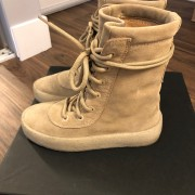 Yeezy Season 2 Taupe Suede Beige Crepe Boots SZ 5 Womens Lust4Labels 3