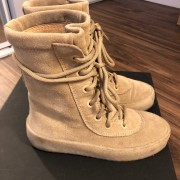 Yeezy Season 2 Taupe Suede Beige Crepe Boots SZ 5 Womens Lust4Labels 5