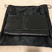 Yves Saint Laurent Black Patent Leather Belle Du Jour Bag Clutch Lust4Labels 1