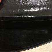 Yves Saint Laurent Black Patent Leather Belle Du Jour Bag Clutch Lust4Labels 7