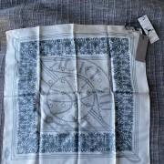Air Jordan Dior White Blue Silk Bandana Square Scarf Lust4Labels 2