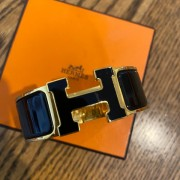 Hermes Black Gold Enamel H Clic Clac PM Bracelet Lust4Labels 2
