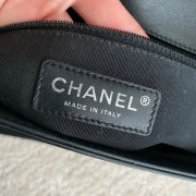 Chanel Classic Black Quilted Patent Leather New Medium Le Boy Shiny SHW Lust4Labels 13