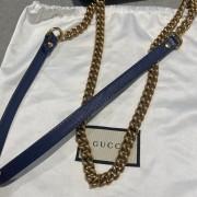 Gucci GG Marmont Matelasse Velvet Blue Bag Purse GHW Lust4Labels 15