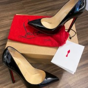 Christian Louboutin Classic Black Patent Leather Pigalle 120 Pumps SZ 35.5 Lust4Labels 2
