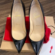 Christian Louboutin Classic Black Patent Leather Pigalle 120 Pumps SZ 35.5 Lust4Labels 4