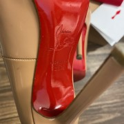 Christian Louboutin Classic Nude Patent Leather Pigalle 120 Pumps SZ 35.5 Lust4Labels 7