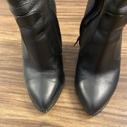 Givenchy Shark Lock Black Leather Wedge Boots SZ 35.5 36 Lust4Labels 3