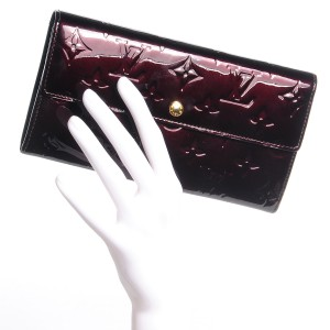 Louis Vuitton Vernis Amarante Sarah Continental Wallet Lust4Labels 1