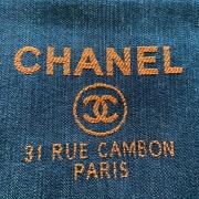 Chanel Classic Deauville Dark Blue Denim Orange Detail Logo Small Zip O Case Clutch Bag Lust4Labels 2