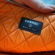 Chanel Classic Deauville Dark Blue Denim Orange Detail Logo Small Zip O Case Clutch Bag Lust4Labels 7