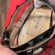 Valentino Noir So Black Patent Leather Rockstud Strap Pumps SZ 35.5 Lust4Labels 13