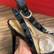 Valentino Noir So Black Patent Leather Rockstud Strap Pumps SZ 35.5 Lust4Labels 15