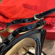 Valentino Noir So Black Patent Leather Rockstud Strap Pumps SZ 35.5 Lust4Labels 16