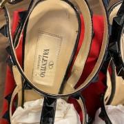 Valentino Noir So Black Patent Leather Rockstud Strap Pumps SZ 35.5 Lust4Labels 3