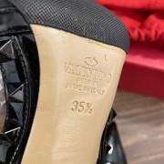 Valentino Noir So Black Patent Leather Rockstud Strap Pumps SZ 35.5 Lust4Labels 8